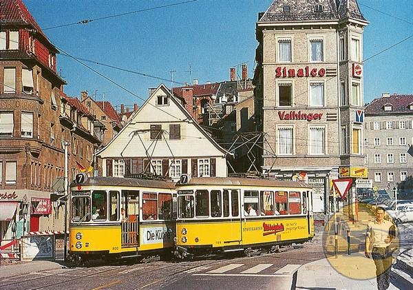 Stuttgarter Historische Straßenbahnen Ev Postkarte